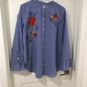 LOFT shirt with embroidery